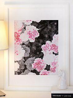 LOVE this print! pink flowers, print, peoni
