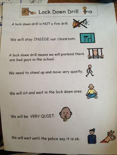 lockdown drill, classroom idea, autism teach, behavior, autism resourc, autism tank, special educ, school idea, tanks
