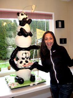 Panda Bear Sculpted Cake