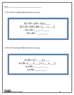 Numbers and Operations in Base Ten Assessments - Grade 3 (