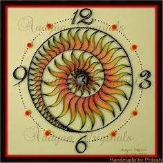 Quilled Spiral Clock -   by: Pritesh Ananth Krishnan