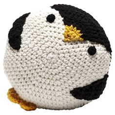 Penguin Crochet Throw Pillow