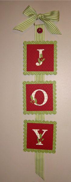 Stampin' Up!  Joy Banner  Evelyn Osinski