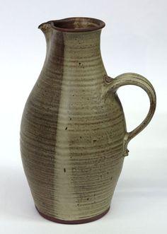 Studio art pottery, Robert Winokur, Tall stoneware pitcher
