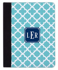 Teal Bristol Tile iPad Cover
