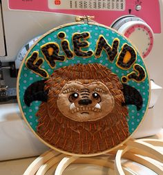 happy dance, ludo, crafti thing, art, felt applique, friend, crafts, labyrinths, embroideri