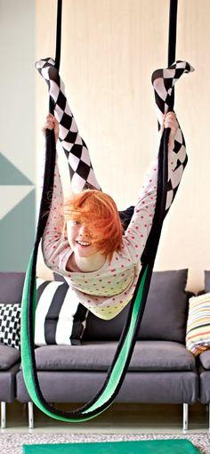 Swing by ikea: Textile swing. #Kids #Activity #Swing