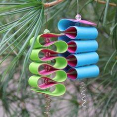 cute!  ribbon ornaments