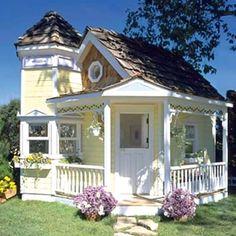 Wow... cottag playhous, beach cottages, dream, garden cottage, backyard cottag, guest houses, garden houses, little cottages, kid