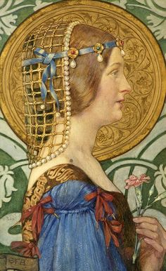 If one could have that little head of hers, 1909  Eleanor Fortescue-Brickdale,  © Russel-Cotes Art Gallery and Museum. Can be seen at Watts Gallery's new exhibition: A Pre-Raphaelite Journey: Eleanor Fortescue-Brickdale. 5 February - 9 June 2013