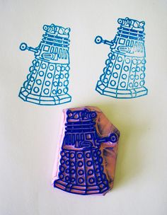 Dalek hand carved stamp