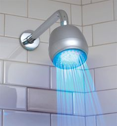 LED shower light - maybe a little tacky, but could be a nice pick-me-up on dark winter mornings.