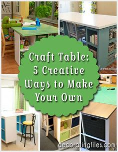 craft tables, craft space ideas, spacecraft room