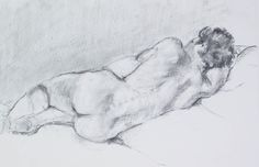 Reclining nude (charcoal from life)