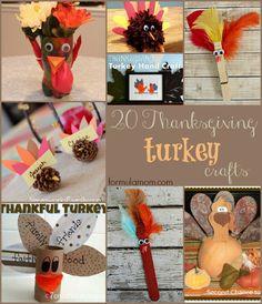 20 #Thanksgiving Turkey Crafts