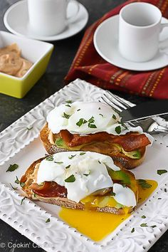 Poached Egg on Toast with Chipotle Mayonnaise, Bacon & Avocado Recipe | cookincanuck.com #breakfast #brunch #MothersDay