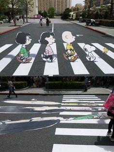 Snoopy 3D Street art