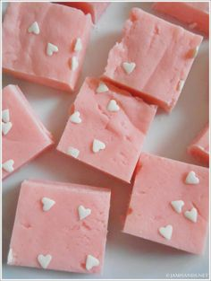 Strawberry Cream Fudge at www.Jamhands.net