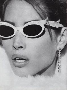 Christy Turlington by Steven Meisel for Vogue, December 1989
