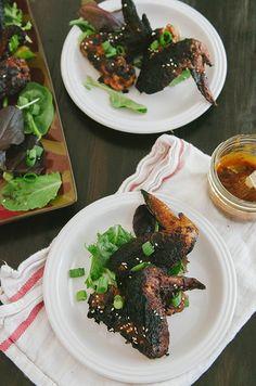 Sticky BBQ Korean Chicken Wings | Soletshangout.com