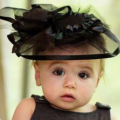 little girls, baby baby, kentucky derby hats, babi, baby girls, baby hats, black, eye, kid