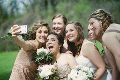Wedding party selfie #WeddingPhotos