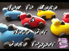 ▶ How To Make A Race Car Cake Topper - YouTube