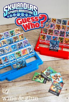 Customized Guess Who with your kids favorite characters #skylanders #home #made #gifts