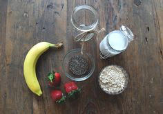 Vegan Breakfast Recipe: Strawberry Banana Overnight Oats