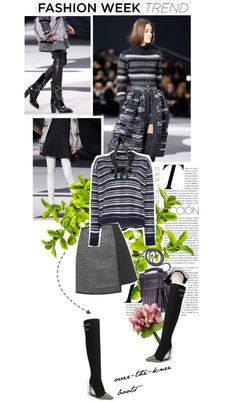 """""""Fashion Week Trend: Over-the-Knee Boots"""" by n-zy ❤ liked on Polyvore"""