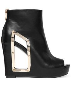 BCBGeneration Nene Wedge Booties - Shoes - Macy's