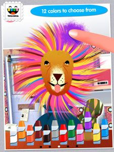 Kids can create crazy and wild hairstyles for people and animals in their very own salon with the Toca Hair Salon App. Let their imaginations run wild and download here. http://bit.ly/IfE65E