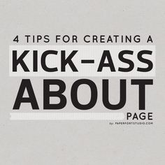 Paper Fort Studio: 4 tips for creating a kick-ass About page