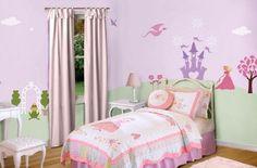 princess bedrooms, girl bedroom, little girls, bedroom walls, wall murals, little girl rooms, kid room, princess room, babies rooms