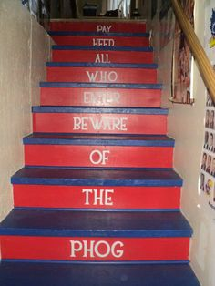 Stairs for a Jayhawk basement!