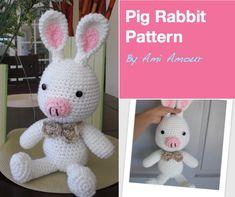 "Free pattern: ""Pink Rabbit Monster"" Finished ~ Amigurumi crochet"