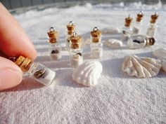 Siesta Key, Siesta Beach, Florida Sand and Shells filled tiny Glass Vials - charms for your creations, earring, necklace making supply beaches, shell, beach florida, florida sand, charms, siesta key charm, jewelri idea, beach idea, siesta beach