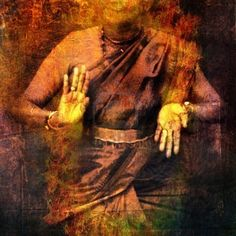 "Hand positions (mudra) in Shiva dance. This mudra shows"" prana"". (giving)."