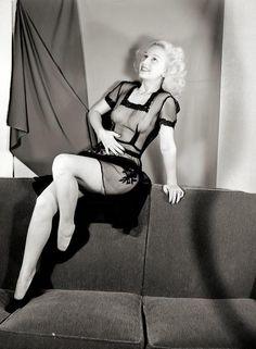 sheer dress. 1950s