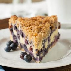 Blueberry Buckle - Chocked full of blueberries with a crunchy streusel topping