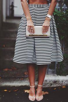 striped + midi