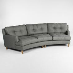 "KEATING COPEN CURVE KHAKI SOFA - Sofas - Seating - Living - HD Buttercup Online – No Ordinary Furniture Store – Los Angeles & San Francisco Color: Grey   Dimensions: 30.5""H x 41""W x 116""L 24""D (seat)  Product SKU: 701088965"
