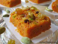 Carrot Fudge (Indian Gajar Halwa Mithai)
