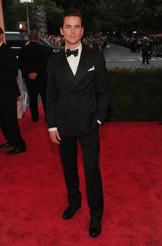 Matt Bomer on the red carpet of the MET Gala in NYC.