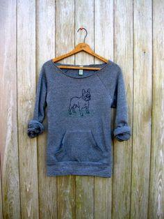 French Bulldog Sweatshirt, Dog Sweater, Frenchie Clothing, S,M,L,XL
