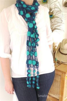 Crochet: Blue Lagoon Scarf - Completed!