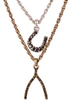 Lucky Charms Double Chain Necklace
