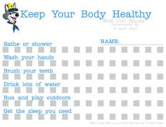 cub scout keep your body healthy-tracking chart- wolf den  try this link http://www.scribd.com/doc/55766372/wolf-3a  Quote