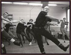 Bob Fosse rehearsing with dancers