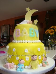 Cool Homemade Baby Shower Cake... This website is the Pinterest of birthday cake ideas